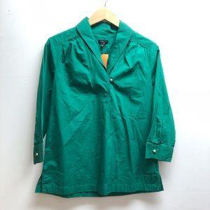 Talbots emerald green top
